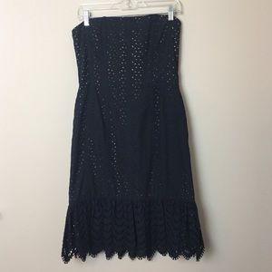 Vintage Oscar de la Renta Strapless Lace Dress